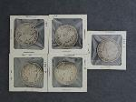 Lot: 3488 - (5) 1900-1911 BARBER HALF DOLLARS