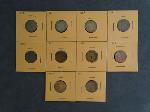 Lot: 3491 - 1858 FLYING EAGLE & (9) INDIAN HEAD PENNIES