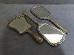 Lot: 3512 - STERLING SILVER HAND MIRRORS