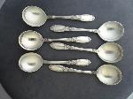 Lot: 3515 - (6) TOWLE STERLING SILVER CREAM SOUP SPOONS