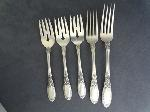 Lot: 3518 - (3) TOWLE OLD MIRROR STERLING SILVER SALAD FORKS