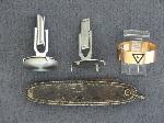 Lot: 3531 - CUFF LINKS, POCKET KNIFE & 10K RING