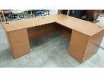 Lot: 1969 - L-Shaped Wood Desk