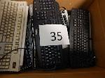 Lot: 35 - (4 Boxes) Keyboards & (7) Portable Printers