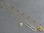 Lot: 3575 - NECKLACES & 14K LOVE KNOT RING