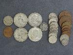 Lot: 3577 - FRANKLIN HALVES, MERCURY DIMES & FOREIGN COINS