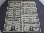 Lot: 3582A - (25) 1957B $1 SILVER CERTS. W/CONSECUTIVE NUMBERS