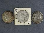 Lot: 3583 - 1896 &1904-D MORGAN & 1922-D PEACE DOLLARS