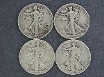 Lot: 3603 - (4) WALKING LIBERTY HALVES 1936-1945