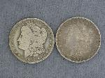 Lot: 3614 - (2) MORGAN DOLLARS 1896-O & 1900-O