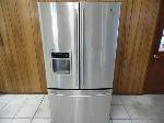 Lot: A6096 - Working LG French Door Stainless Refrigerator