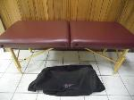 Lot: A6117 - LifeGear Leather Massage Table