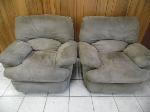 Lot: A6141 - Pair of Suede Recliner Sofa Chairs