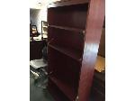 Lot: 44&45.PU - Bookcase & (3) Desks