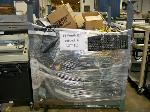 Lot: 211 - BIN OF COMPUTER CORDS, KEYBOARDS, COMPUTER MOUSE