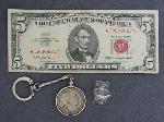 Lot: 3618 - 1963 $5 RED SEAL & 14K RING