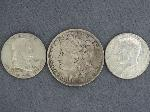Lot: 3619 - 1891 MORGAN DOLLAR, FRANKLIN & KENNEDY HALVES