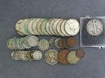 Lot: 3621 - KENNEDY HALVES, MERCURY DIMES & FOREIGN COINS
