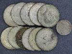 Lot: 3631 - (11) KENNEDY HALF DOLLARS & 1937 BUFFALO NICKEL