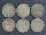 Lot: 3659 - (6) 1922-1924 PEACE DOLLARS