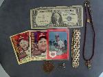Lot: 3663 - 14K TIE TAC & (1) BASEBALL CARD <BR><span style=color:red>No Credit Cards Accepted for this Lot! CASH OR WIRE TRANSFER ONLY!</span>