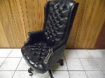 Lot: A6167 - Executive Wing Back Leather Office Chair