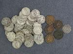 Lot: 3769 - 1883 SEATED DIME & (5) INDIAN HEAD PENNIES