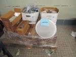 Lot: 46.PAS - Ceiling Speaker, Light Fixture and Assorted Electrical Parts
