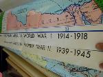 Lot: 62.HOU - (5) AMERICAN HISTORY MAPS AND 2 MAP STANDS