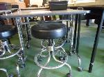 Lot: 63&64.HOU - (4) MANICURE TABLES, (4) STOOLS AND (4) PLASTIC TRAYS