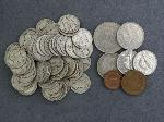 Lot: 3788 - (54) MERCURY DIMES 1917-1943 & FOREIGN COINS