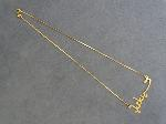 Lot: 3795 - 18K CHAIN WITH PENDANT