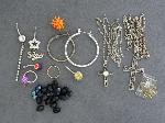 Lot: 3796 - EARRINGS, BODY JEWELRY & 10K RING