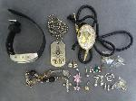 Lot: 3798 - NECKLACES, BOLO, BRACELET & 10K RING