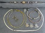 Lot: 3799 - SILVER RINGS, NECKLACE & 14K RING