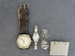 Lot: 3800 - WRIST WATCH, EARRING & 10K RING