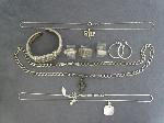 Lot: 3813 - SILVER RING & NECKLACES