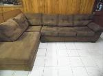 Lot: A6219 - United Furniture Espresso Suede Sectional