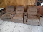 Lot: A6230 - Ashley Furniture Home Theater Sofa Recliners