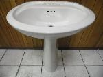 Lot: A6238 - American Standard Porcelain Sink and Stand