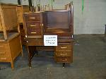 Lot: 431 - (2) WOODEN TEACHERS DESK