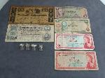 Lot: 3836 - 10K RINGS & FOREIGN CURRENCY