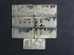 Lot: 3840 - (7) STERLING SILVER BARS