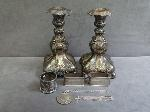 Lot: 3882 - (1) PAIR STERLING SILVER NAPKIN HOLDERS