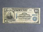 Lot: 3900 - 1902 THRID CHATER NATIONAL $10 CURRENCY NOTE