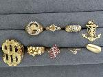 Lot: 3918 - 10K RINGS & 14K ANCHOR CHARM