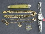 Lot: 3919 - WATCH, POCKET KNIFE & 14K RING