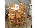 Lot: 27 - (12) Wood Stools & (12) Metal Stools