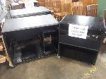 Lot: 545 - (3) Black And Grey Computer Carts