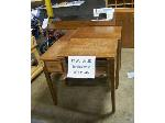 Lot: 546 - (3) Sewing Machine Tables With One Sewing Machine